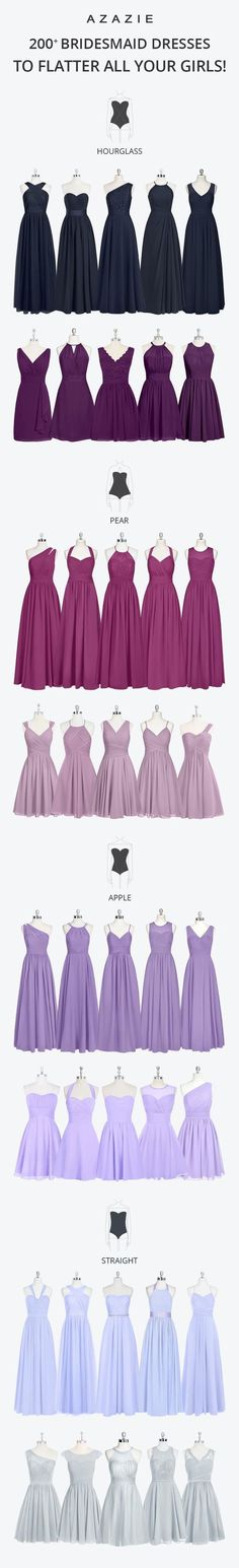 Bridesmaids dress references.