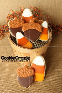CookieCrazie: Acorns & Candy Corn