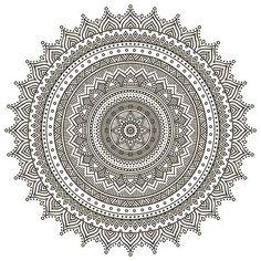 Illustration of Mandala. Hand drawn background vector art, clipart and stock vectors. Mandala Doodle, Mandala Art Lesson, Mandala Artwork, Mandala Painting, Doodle Art, Zen Doodle, Croquis Mandala, Mandalas Drawing, Mandala Coloring Pages