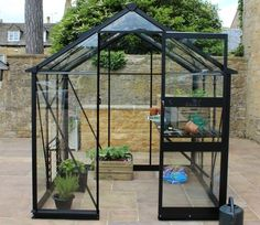 Eden Burford 6x6 Wide Greenhouse with Black Frame