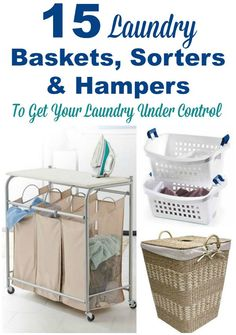 15 laundry baskets, sorters and hampers you can use to help you get your laundry under control. #ad