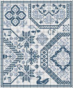 Quaker, монохром - The World of Blackwork&Monochrome Cross Stitching - Страна Мам