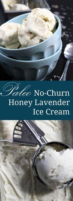 Paleo No-Churn Honey Lavender Ice Cream | only Taste Matters