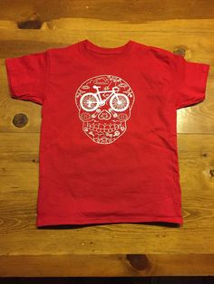 Day of the dead t sugar skull t shirt kids by DiaDeLosBicycles