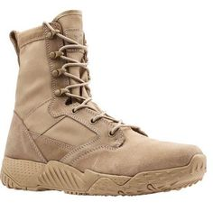 "Under Armour 1264770 Men's Desert Sand UA Jungle Rat 8"" Leather Boots - Size 14 #UnderArmour #WorkSafety"