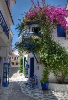 Skiathos, Greece - love the blue :)