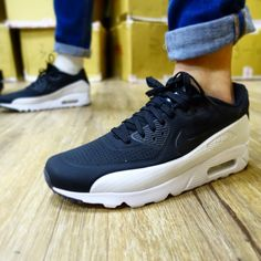 d9c18bf53bc9 Nike Air Max 90 Ultra Moire Black White Killing Whale Mens Running  819477-011