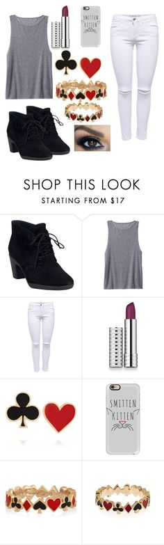 """""""Random #234"""" by kailyn-corey ❤ liked on Polyvore featuring Clarks, Athleta, Lipsy, Clinique, Alison Lou and Casetify"""