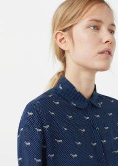 Camisa estampada fluida - Camisas de Mujer   MANGO España