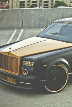 Black and gold luxury car