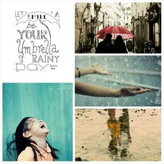 Umbrella on a Rainy Day. #Moodboards #Mosaic #Collage by Jeetje♡