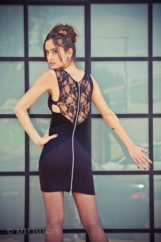 10 DISCOUNTBlack mini dress with lace by BinaSamet on Etsy, $119.00