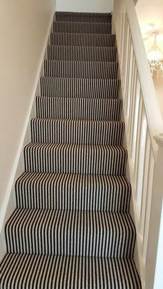 Hottest Free white Carpet Stairs Style Among the fastest approaches to revamp yo.Hottest Free white Carpet Stairs Style Among the fastest approaches to revamp yo. Hottest Free white Carpet Stairs Style Among the fastest approaches t Striped Carpet Stairs, Striped Carpets, Carpet Staircase, Hallway Carpet, Patterned Carpet, Basement Carpet, Staircase Remodel, Stairs Landing Carpet, Black Staircase