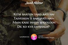 LyricsMasti.Com / Lakshya Hari Haran,Sadhna Sargam / Javed Akhtar / Kitni baatein yaad aati hai Tasv...