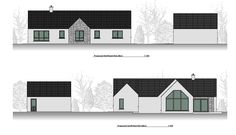 New Detached Bungalow and Detached Domestic Garage in Co. Old School House, Bungalow, Old Things, Garage, Floor Plans, Houses, Projects, Drive Way, Homes
