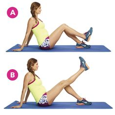 The Pilates exercise works your quads and hamstrings. (It's one of Stacy Keibler's favorites!)