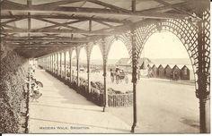 MADEIRA WALK, BRIGHTON, SUSSEX (SEPIA PRINTED POSTCARD) 1914