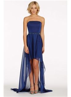 Casual Short Front Back Junior Cheap Bridesmaid Dresses With Crystals