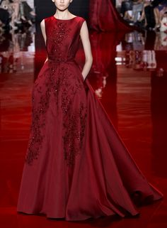 Elie Saab Fall 2013 Couture deep red burgundy glittering sparklling elegant sexy slick chic everything big night amazing
