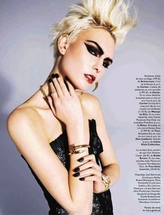 """The (Punk) Crown Jewels"": Karlun Veling by Marc Philbert for Grazia Spain 24th April 2013"