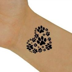 Temporary Paw Print Tattoo Designs