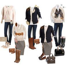 10 Piece Fall Wardrobe - Cream Sweater 5 Ways
