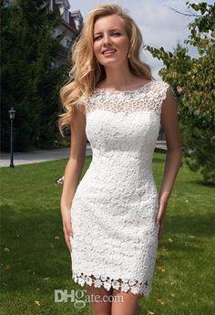 vestido de novia para playa con encaje - Buscar con Google