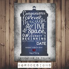Doctor Who TARDIS Save The Date PRINTABLE DIY by Bgr8Designs