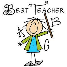 Stick Figure Best Teacher ABC