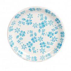 Gebaksbord Ditsy lichtblauw - Borden - Mooie keuken DeeDaDo