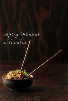 spicy peanut noodles by WillCookForFriends, via Flickr