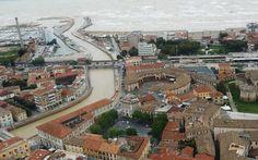Senigallia durante l'alluvione del 3 maggio 2014,in una veduta aerea......Per non dimenticare.