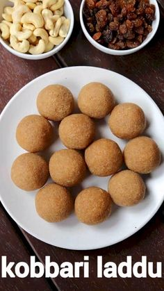 kobbari laddu recipe, coconut jaggery ladoo, kobbari undalu, kobbari louz with step by step photo/video. flavoured laddu with moist coconut & jaggery. Indian Dessert Recipes, Indian Sweets, Sweets Recipes, Easy Desserts, Snack Recipes, Cooking Recipes, Rice Recipes, Laddoo Recipe, Burfi Recipe