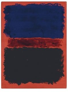 Blue, Red, Black on Red By Mark Rothko ,1967