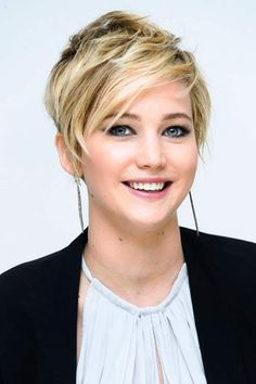 Top 100 Women Short Hairstyles for 2014  Jennifer Lawrence's Short Hairstyle