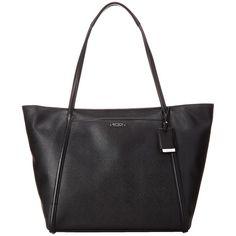 Tumi Q-Tote (Black) Tote Handbags ($295) ❤ liked on Polyvore featuring bags, handbags, tote bags, tumi, strap purse, tumi tote, tumi handbags and tote bag purse