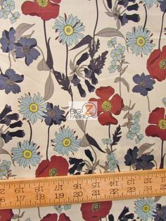"""100% #Cotton Quilt Fabric / Blue Bell By #AlexanderHenry / 60"""" Width Sold By The Yard"""