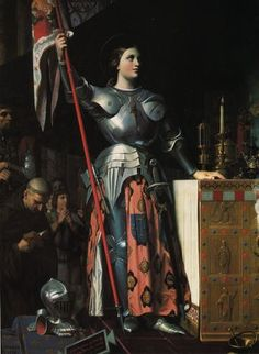 Although Lucy is my patron saint, St. Joan of Arc has always born a particular resonance with me. I think it's the idea of fighting for justice and fighting for God's will without the inhibitions of social construct.