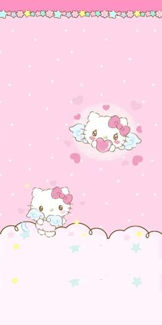 Keroppi Wallpaper, Kawaii Wallpaper, Pink Wallpaper, Hello Kitty Iphone Wallpaper, Hello Kitty Backgrounds, Wallpaper Stickers, Wallpaper Backgrounds, Melody Hello Kitty, Hello Kitty Tattoos