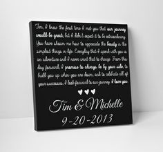 Wedding Vows On Canvas Order From The Standard Etsy Vow Art