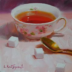 """Sugar?"" - Original Fine Art for Sale - © Elena Katsyura"