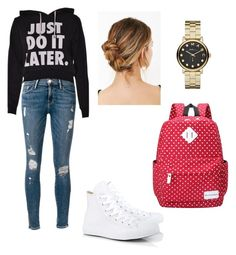 """""""Untitled #5"""" by suadalghanmi ❤ liked on Polyvore featuring Frame Denim, Converse and Marc by Marc Jacobs"""