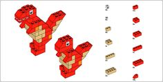 Variety of Lego Building Instructions Lego Building Games, Building Ideas, Legos, Lego Dinosaur, Dinosaur Birthday, Lego Therapy, Construction Lego, Shop Lego, Lego Animals