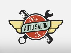 Auto Salon meets car detailing. Salon, Comb, Wrench, Automotive, Logo, Branding, Identity.