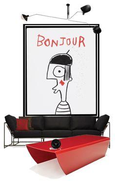 """bon jour"" by katrisha-art ❤ liked on Polyvore featuring interior, interiors, interior design, home, home decor, interior decorating, House by John Lewis, Sovet Italia, diaryset and interiordiary"