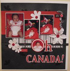 Canada Day Scrapbooking Scrapbook Designs, Scrapbook Page Layouts, Scrapbooking Ideas, Scrapbook Pages, Canada Day Crafts, Calendar Ideas, Travel Scrapbook, Layout Inspiration, Smash Book