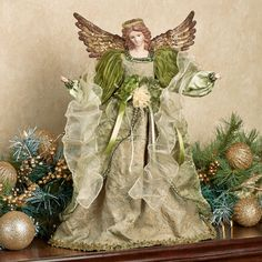 Regal Elegance Angel Christmas Tree Topper