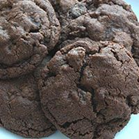 Chocolate Chocolate Chip Cookies.... Made these tonight and they are super good. A tip: refrigerate the dough for a bit before scooping out onto baking sheets.... It's a little hard to work with if too warm.