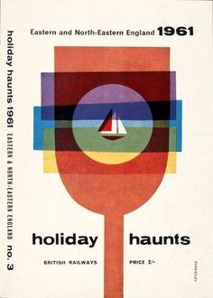 Holiday Haunts, Tom Eckersley, 1961. via vintage poster blog