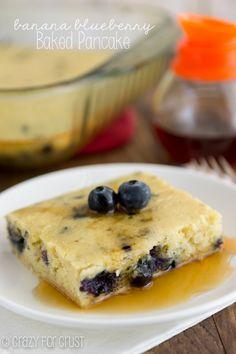 Banana Blueberry Baked Pancake http://www.crazyforcrust.com/2014/05/banana-blueberry-baked-pancake/?utm_campaign=coschedule&utm_source=pinterest&utm_medium=Crazy%20for%20Crust%20(Crazy%20for%20Crust)&utm_content=Banana%20Blueberry%20Baked%20Pancake